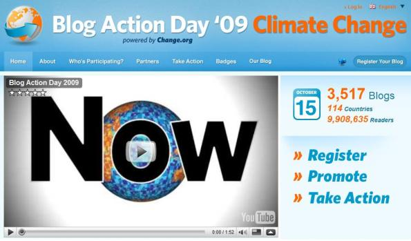 Click on this image to view the website and register for Blog Action Day