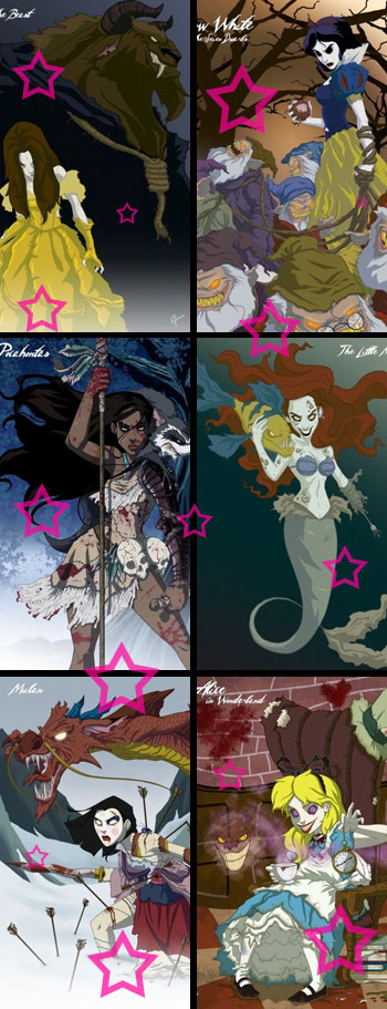 Disney Marvel Dark Twisted Princesses